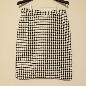 Banana Republic White Black Pencil Skirt